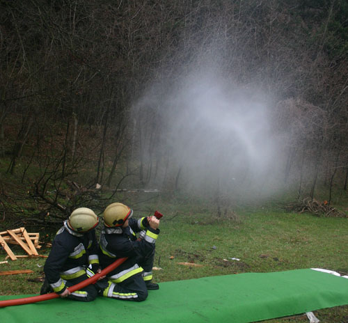 Croatian Firefighters Practice Gas Cooling