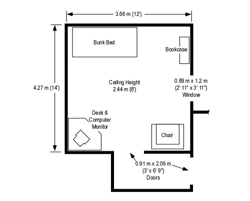 Horizontal Ventilation Test Floor Plan